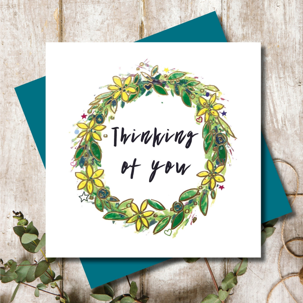 Thinking of You Wreath Greeting Card