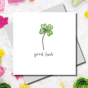 Gracie Good Luck Clover Greeting Card