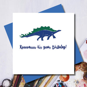 Roaaaaaaar Dinosaur Birthday Greeting Card