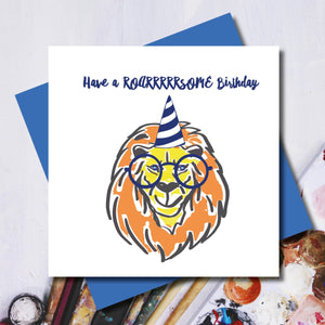 Roarrrrrsome Lion Birthday Greeting Card