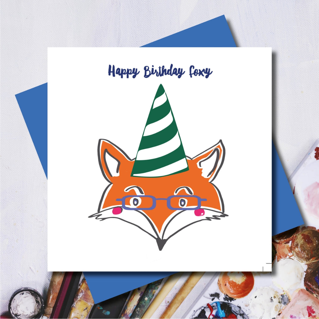 Foxy Happy Birthday Greeting Card