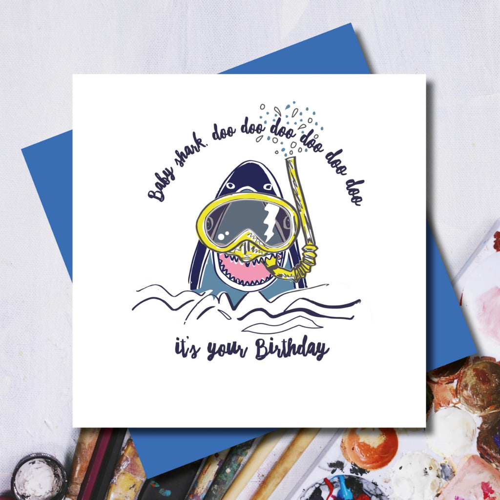 Baby Shark Greeting Card