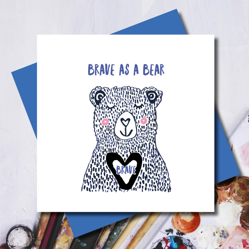 Brave as a Bear Greeting Card