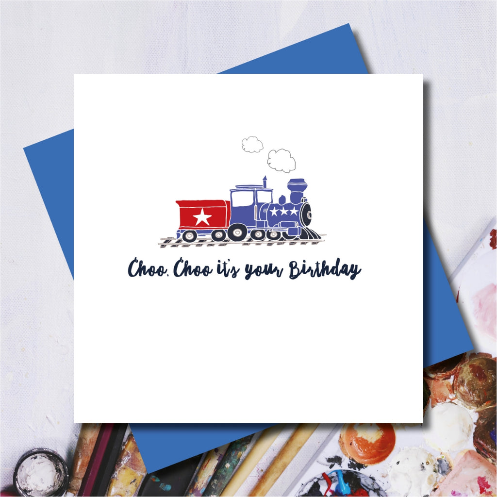 Choo Choo Train Birthday Greeting Card