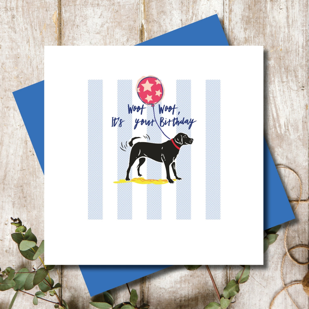 Black Labrador Birthday Greeting Card