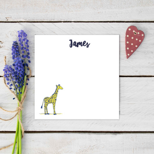 Personalised Jude The Giraffe Stationery Set