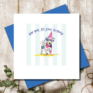 Jack Russell Dog Birthday Greeting Card