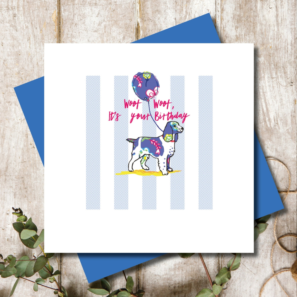 Spaniel Dog Happy Birthday Greeting Card