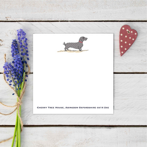 Personalised Dachshund dog notecard