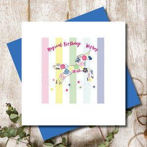 Birthday Magical Unicorn Greeting Card