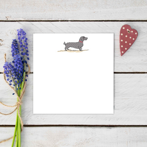 Dachshund dog notecard