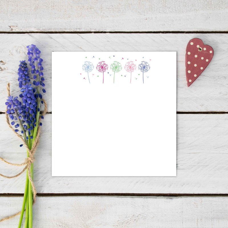 Flower Allium Stationery Set
