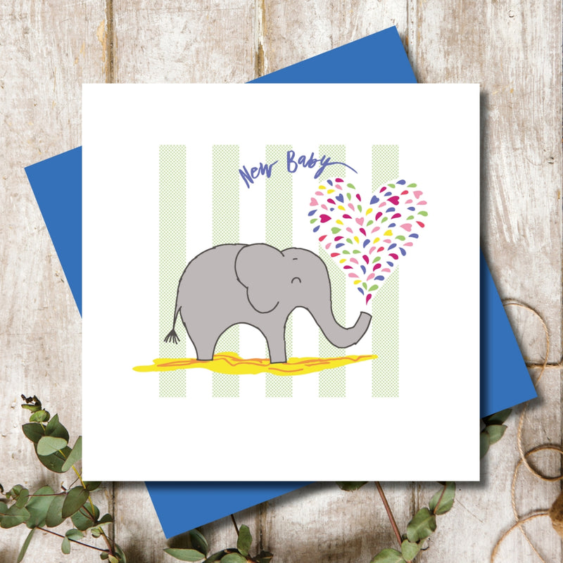 New Born Elephant Greeting Card