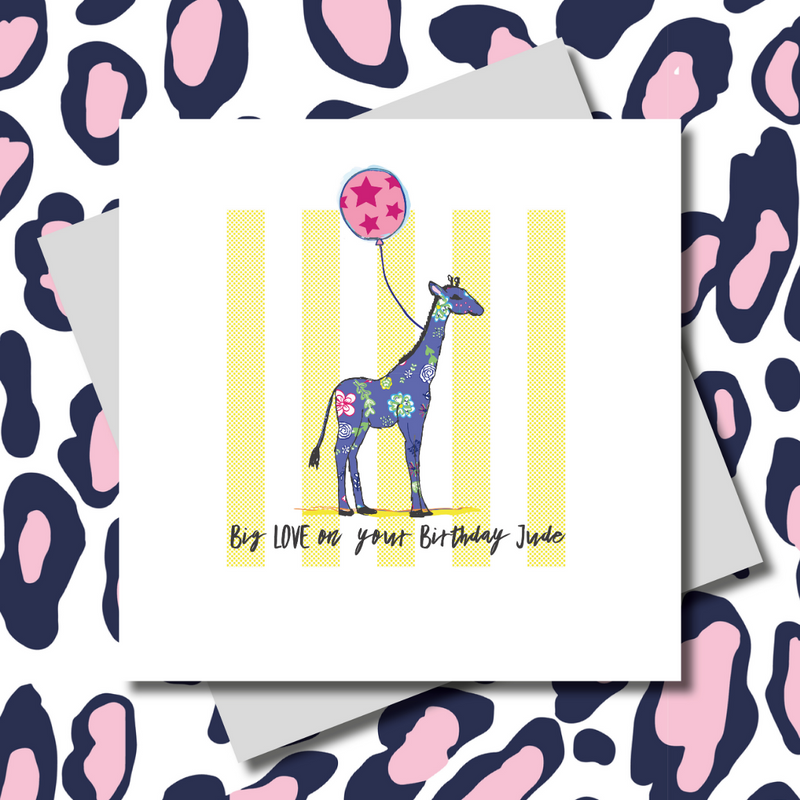 Jude Giraffe Happy Birthday Greeting Card
