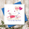 Love Is All You Need Happy Anniversary Greeting Card