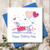 Personalised Love Is All You Need Happy Anniversary Greeting Card