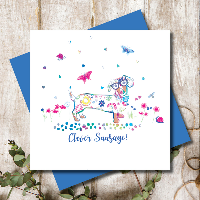 Clever Sausage Dachshund  Greeting Card