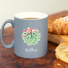 Festive Mistletoe Kisses Personalised Mug