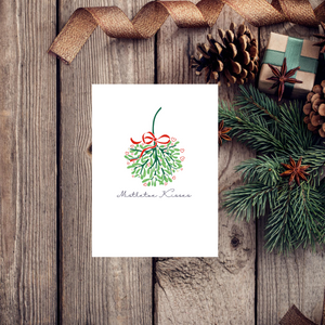 Mistletoe Kisses Christmas Greeting Card