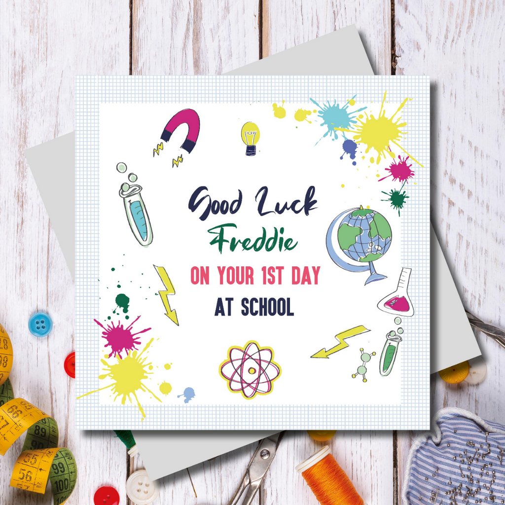 Back to school crazy science Greeting Card
