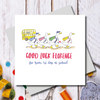 Back to school Ducks Greeting Card
