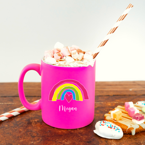 Rainbow Love Personalised Mug