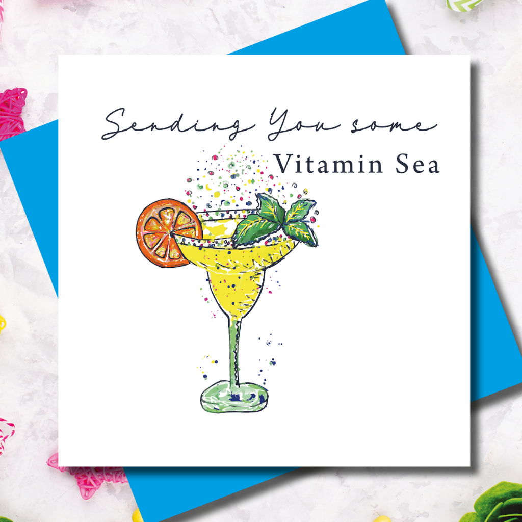 Tipsy Vitamin Sea Get Well Greeting Card