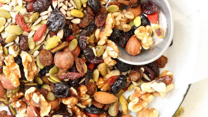 A nut mix of dried fruit and premium nuts in bulk. Sydney Nut & Sweet branded