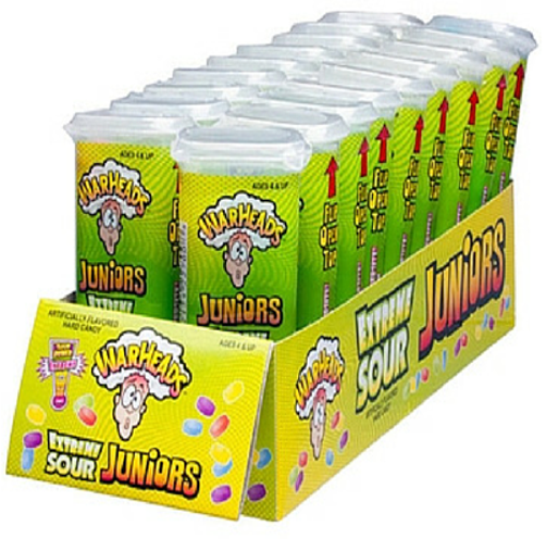 Confectionery - Warheads extreme sour minis 49G X 18 - nutsandsweets.com.au