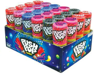 Confectionery PUSH POP 15 X 24