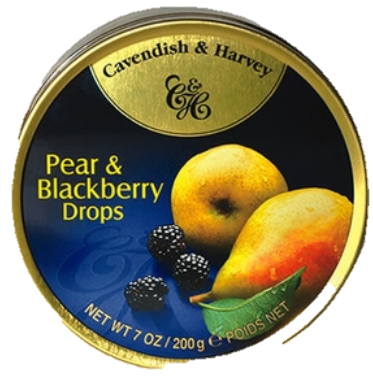 C&H Pear & Blackberry Drops 200G X10