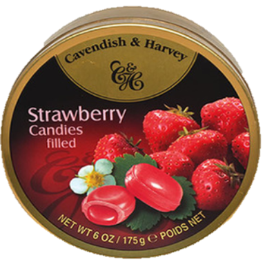 C&H Strawberry Filled Drops 175G X10