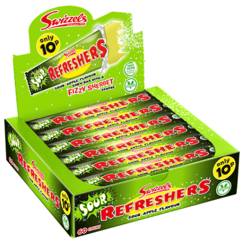 refreshers sour apple 60x18g