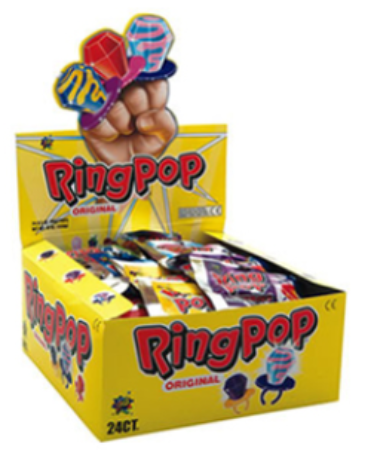 Confectionery RING POP 14g x 24 - nutsandsweets.com.au