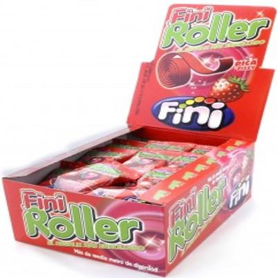 Confectionery Fini Roller Strawberry 20g X 40 - nutsandsweets.com.au