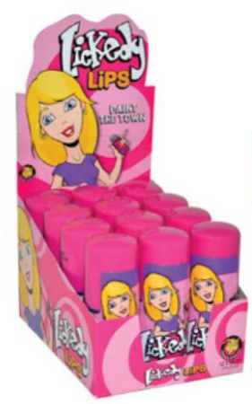 LICKEDY LIPS SOUR CANDY ROLLER 12pack x 60mL - nutsandsweets.com.au