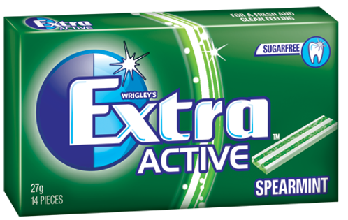 Gum Extra Active Spearmint 27g X24