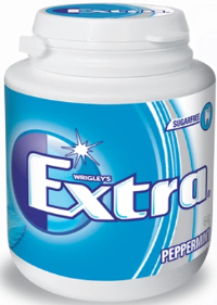 Gum Extra Peppermint Bottle 64gX6