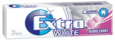 Gum Extra White Bubble Mint 14GX24