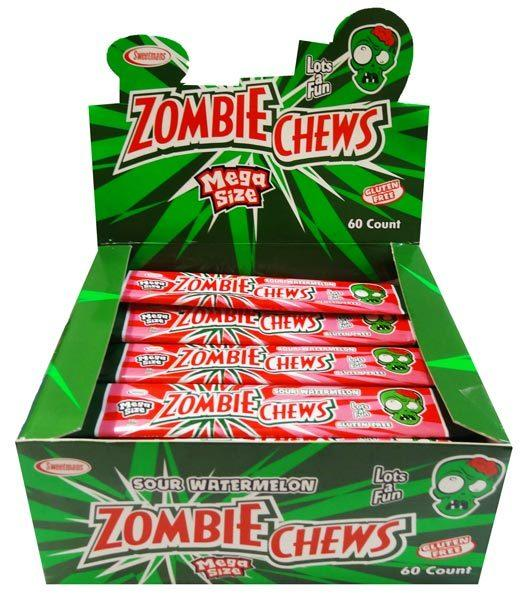 Confectionery - ZOMBIE SOUR WATERMELON 28G X60