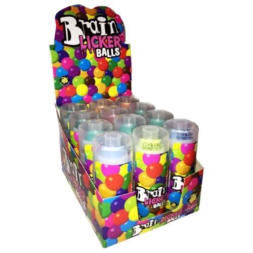 NOVELTY BRAIN LICKER BALLS 60ML X 12