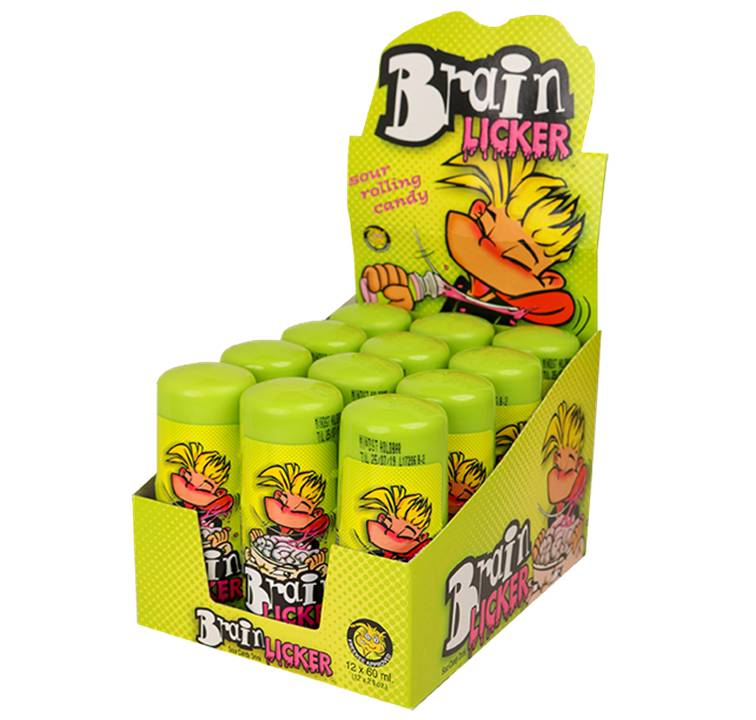 BRAIN LICKER Sour Candy 60ML  X 12 - nutsandsweets.com.au