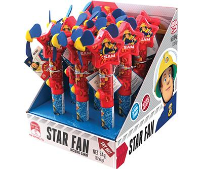 Novelty FIREMAN SAM STAR FAN 7G X 12 - nutsandsweets.com.au