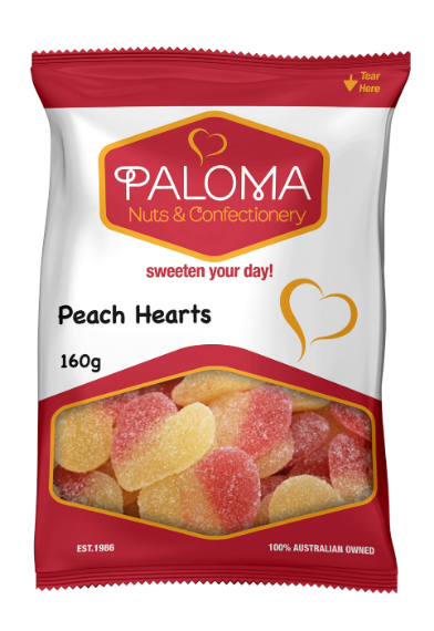 Paloma Peach Hearts