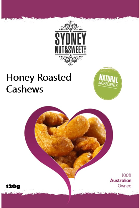 Sydney Nut and Sweet Honey Cashews - nutsandsweets.com.au