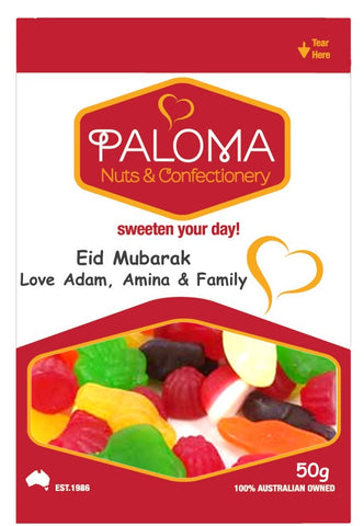 Paloma (Customised Message) Eid Mubarak Bag 45G x 50