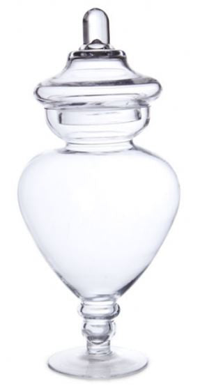 Homewares Candy Buffet Conical Glass Jar w/Lid - nutsandsweets.com.au
