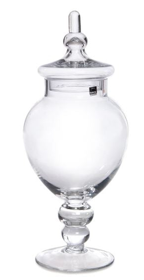 Homewares Candy Buffet Circular Glass Jar 2 w/Lid - nutsandsweets.com.au