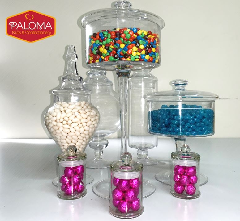 Homewares Candy Buffet Glass Jar- FULL SET - nutsandsweets.com.au