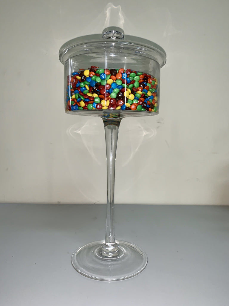 Homewares Candy Buffet Tall Glass Jar w/Lid - nutsandsweets.com.au